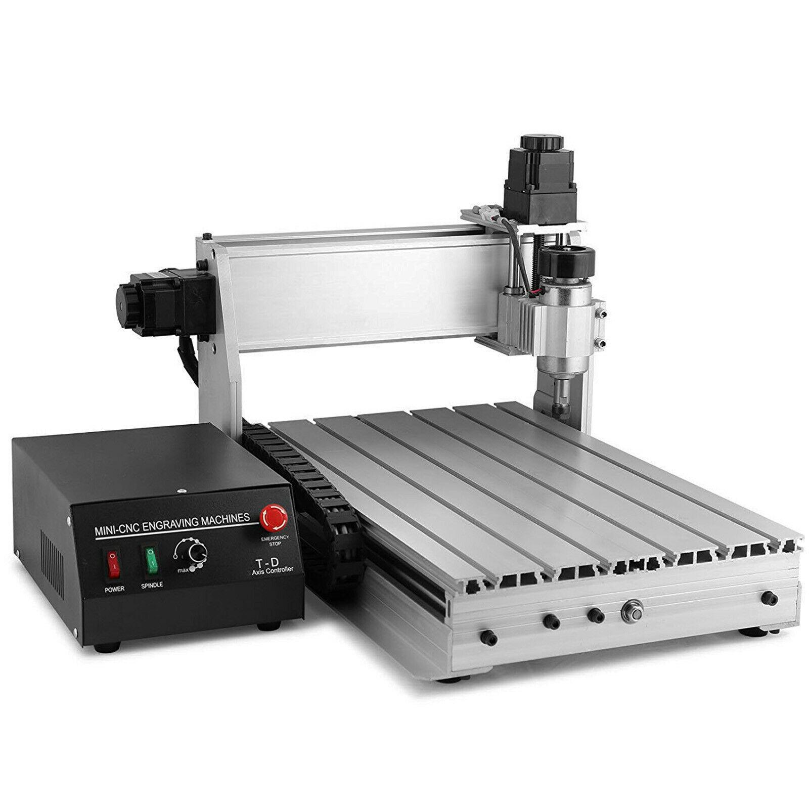 CNC Router Case Engraving Machine Engraver T-SCREW 3040T 4 Axis Desktop Wood Carving DIY Craft Cutter Home Appliance Cut Machine