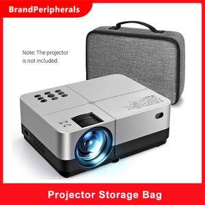 Image 1 - Портативный серый чехол для проектора универсальная сумка для переноски органайзер для путешествий для проекторов и аксессуаров