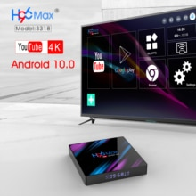 CRENOVA H96 MAX Android TV Box 10.0 RK3318 4GB RAM 64GB 2.4G/5G WiFi H.265 4 K HDR Netflix Google Play Set Top Box Media Player