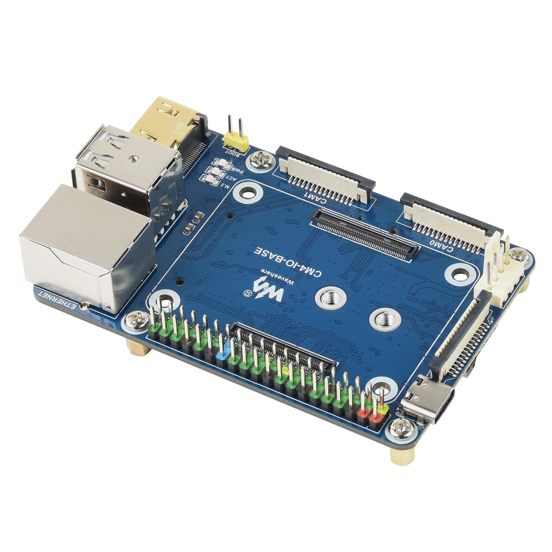 قاعدة صغيرة USB HUB IO لوح تمديد ل RPI التوت بي وحدة الحساب 4 CM4 ، مع 40PIN GPIO واجهة RJ45 إيثرنت
