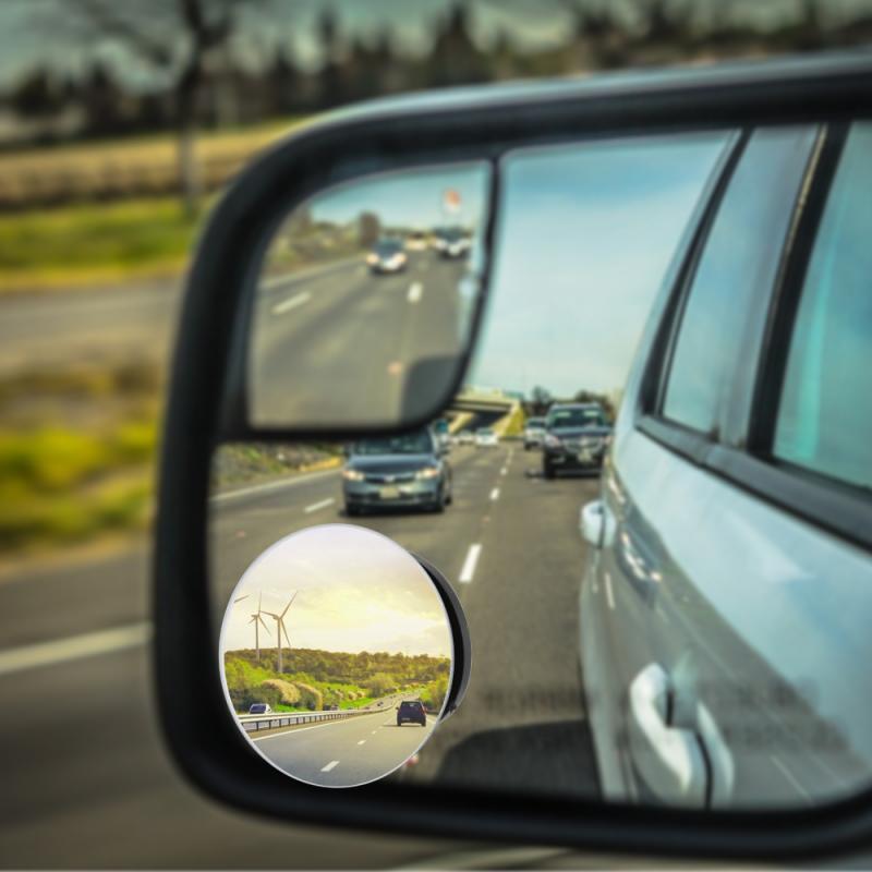 Espejo de coche 360 grados gran angular convexo redondo convexo punto ciego de conducción Reflector de seguridad Exterior espejo retrovisor de vehículo