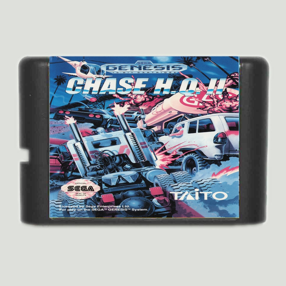 Chase H Q II 16 bit tarjeta de juego MD para Sega Mega Drive para Génesis