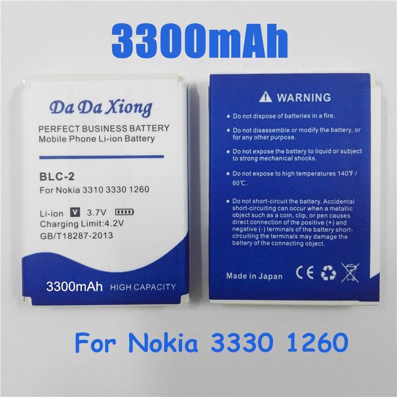 3300mAh BLC-2 BLC2 Li-Ion Telefon Batterie für NOKIA 3310 3330 1260 2260 3315 3320 3350 3360 3390 3410 3510 3520 3310