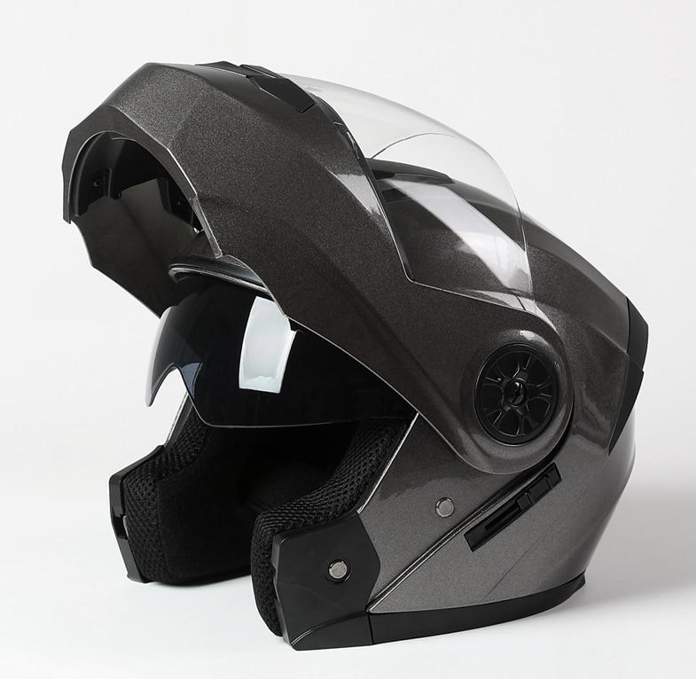 2021 новый полный уход за кожей лица безопасный мотокросс шлем мотоциклетный кожаный чехол из искусственной кожи (шлем Двойной объектив мото...