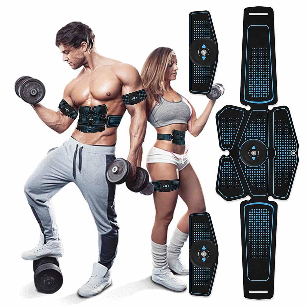 Estimulador muscular Abs, equipo de ejercicio para gimnasio en casa, electroestimulación muscular, estimulador eléctrico EMS con carga USB