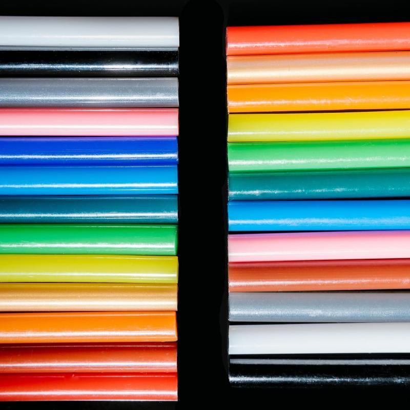 Клеевые палочки, 25 шт., клейкие мини-палочки для офиса, термоплавкий клей для творчества, практичного творчества, блестящие клеевые палочки ...