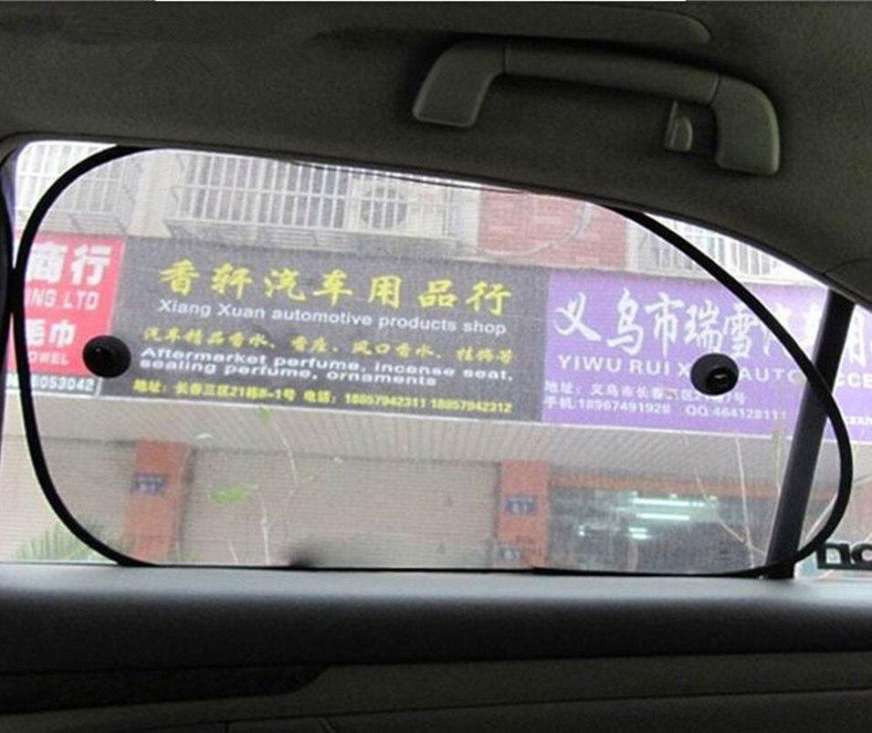 2 uds 65*38 lado posterior parasol de coche ventana trasera Auto sombrilla de vidrio sombrilla cubierta visera de malla Shield de pantalla de protección Solar
