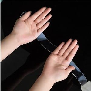 Image 5 - Прозрачная водонепроницаемая лента, многочисленные стирки с помощью волшебных наклеек, двусторонний клей, не оставляет следов