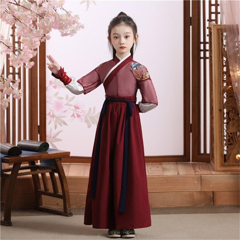 الأطفال الجنية تانغ سلالة الملابس للفتيات سترة الرقص الشعبي الزي الأداء الصينية زي الاطفال