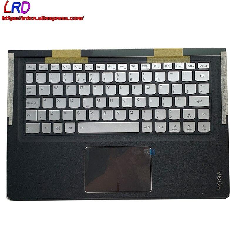جديد C الغطاء العلوي حالة Palmrest مع المملكة المتحدة الإنجليزية الخلفية لوحة المفاتيح لينوفو ينوفو اليوغا 900S-12ISK محمول 5CB0K93854 SN20K09882
