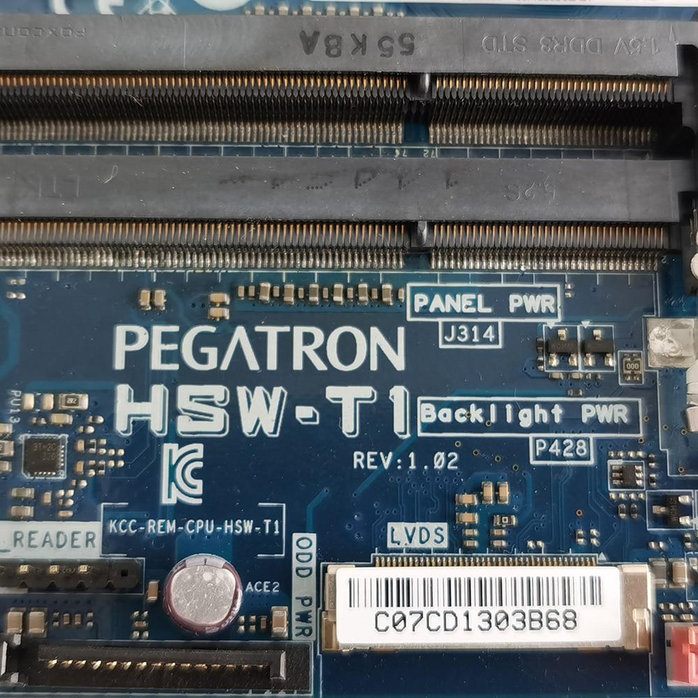 Original Desktop Motherboard for ASUS HSW-T1 Mini iTX  I3-4030U DDR3L DC Power Supply Main Board Fully Tested