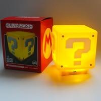 Светодиодный ночсветильник с USB-зарядкой и записью вопросов, игра в Супер Марио, Детская Ночная спальня, домашний куб, Поворотная настольная...