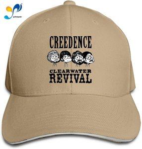 Creedence Clearwater Revival Cap Headdress Sandwich Hat Unisex Vogue Sunhat Adjustable Baseball Cap