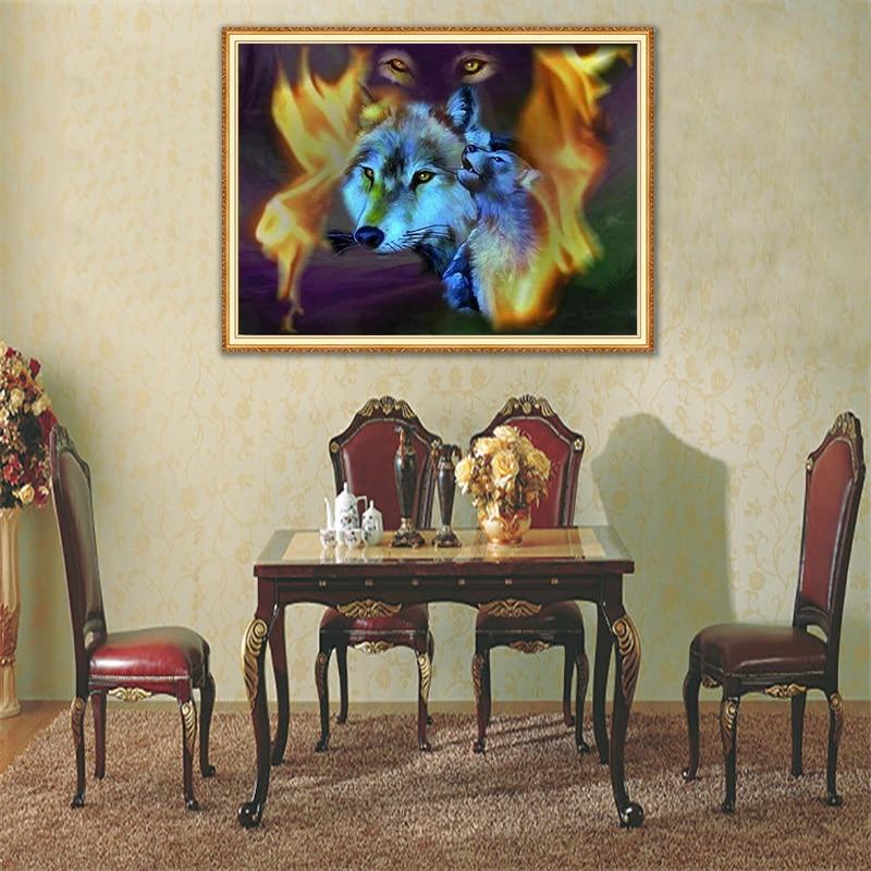 Lobo llama Pantalla Completa cuadrada/redonda Animal diamante bordado 5D diamante pintura Rhinestone imagen diamante mosaico Dimond Sets