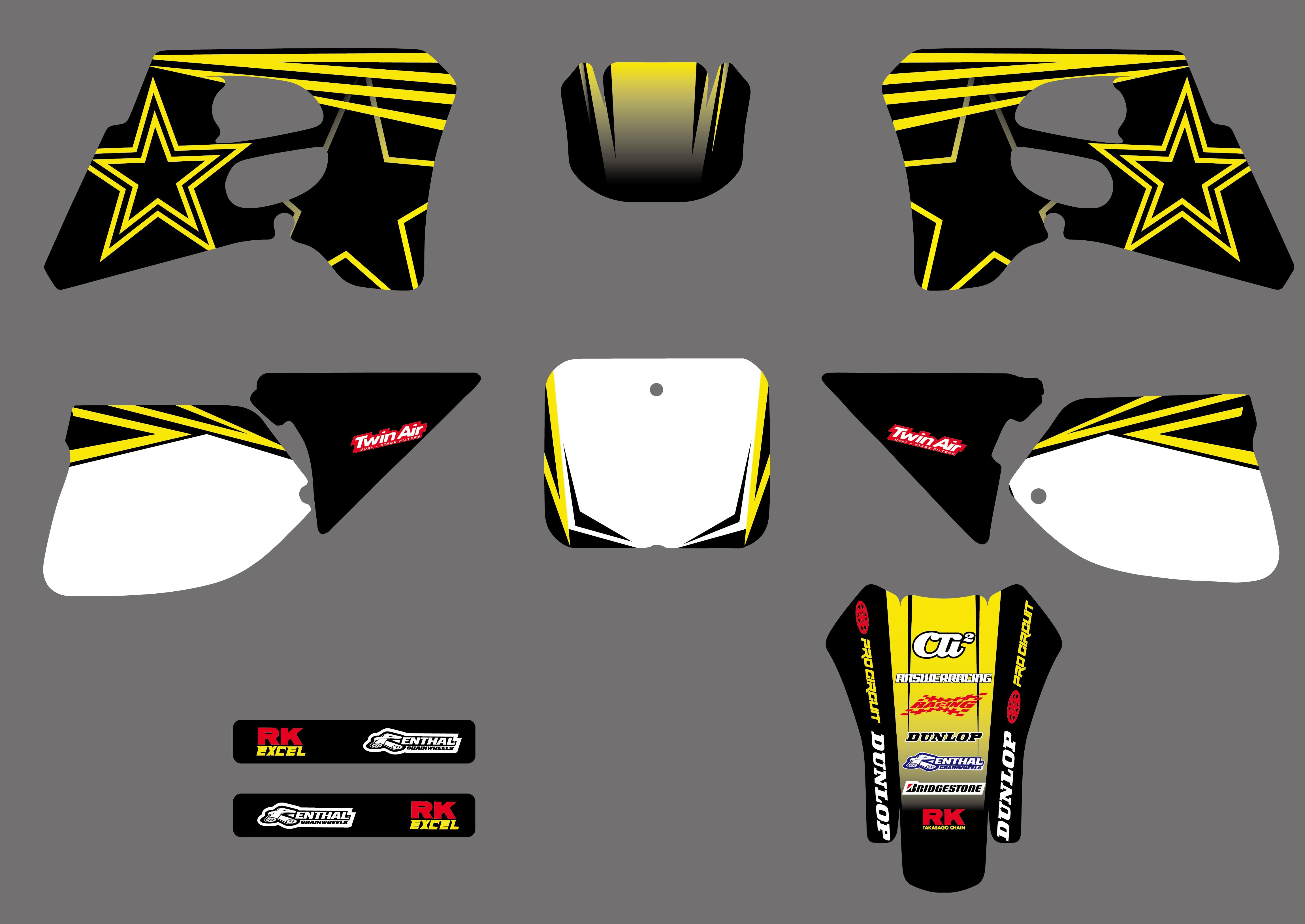 Motorrad Star Team Grafiken Hintergründe Abziehbilder Aufkleber Für Suzuki RM125 RM250 RM 125 250 1993 1994 1995