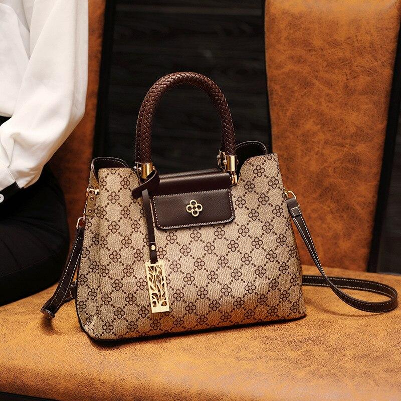 Print Brand Designer Women Leather Bag Crossbody Bags for Women 2020 Luxury Shoulder Bag Ladies Hand Bags Bucket Bag