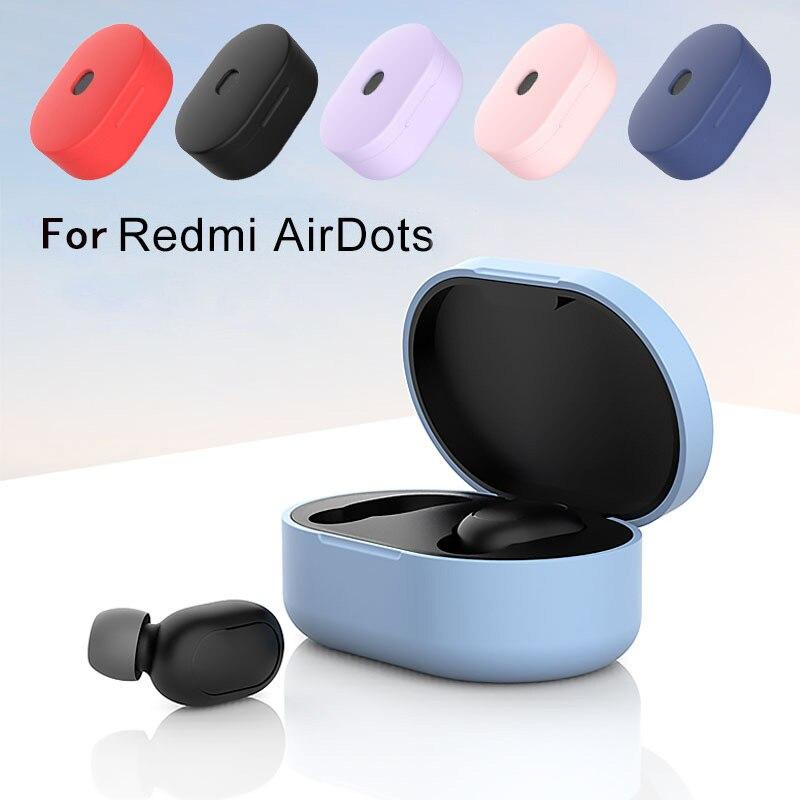 Funda de silicona para auriculares YanXu, funda para mi Airdots roja, versión Global, funda para mi Airdots roja, auténticos auriculares inalámbricos Mi, carcasa para auriculares básicos