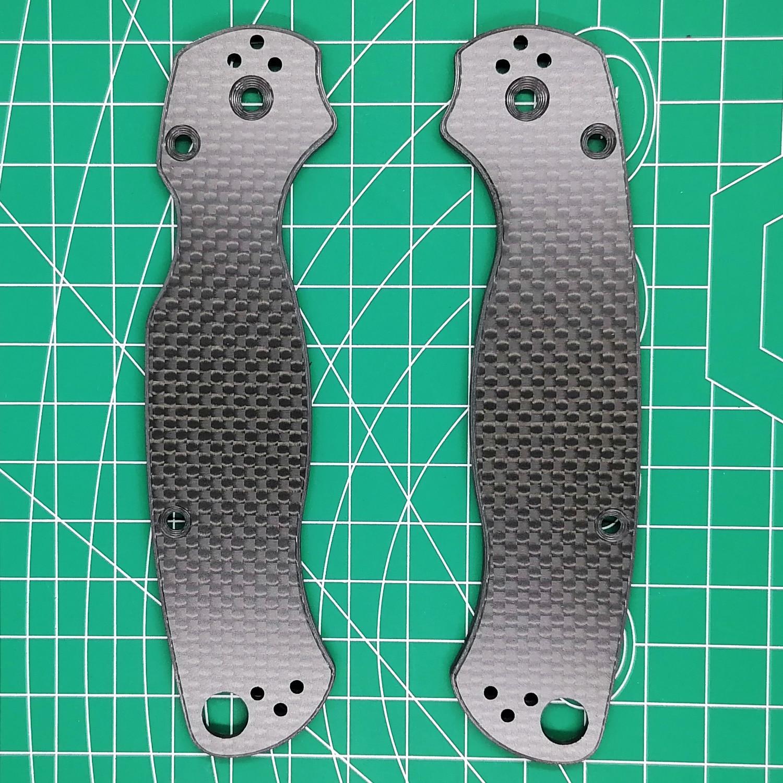 Custom Made 3K Full Carbon Fiber Folding Knife Replacement Scale for Spyderco C81 EDC Mod