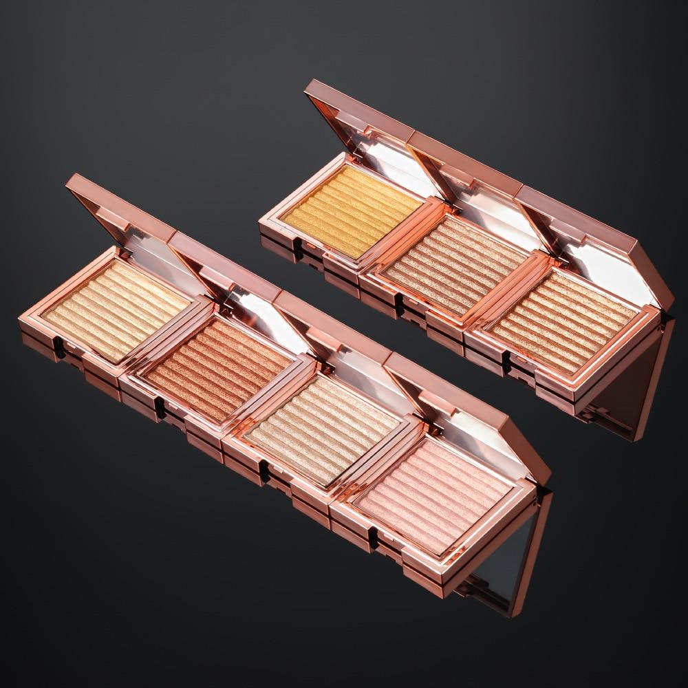 Highlighter Facial Bronzers Palette Makeup Face Glow Contour Shimmer Powder Illuminator Highlight Cosmetics Custom Logo
