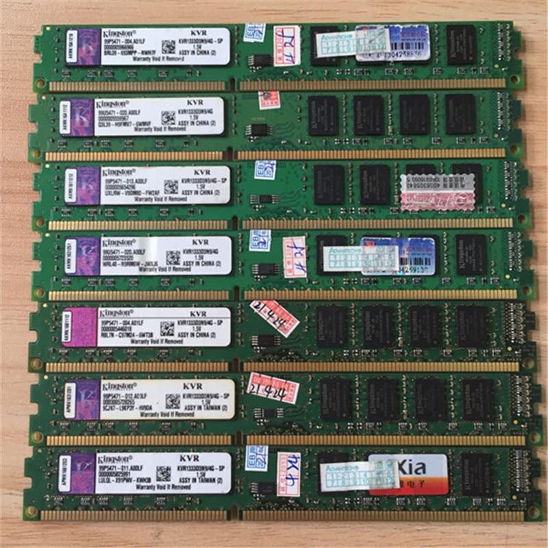 Kingston-memoria de escritorio ddr3 usada, 4gb, 1333MHz, KVR1333D3N9/4G, 4GB, 1333MHz, DDR3, para...