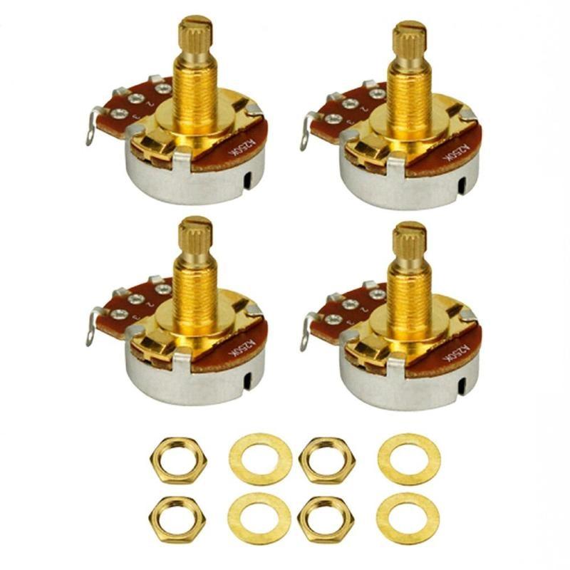 1 pçs metal eixo serrilhado potenciômetro de áudio botão da guitarra elétrica botão tom botão volume acessórios da guitarra