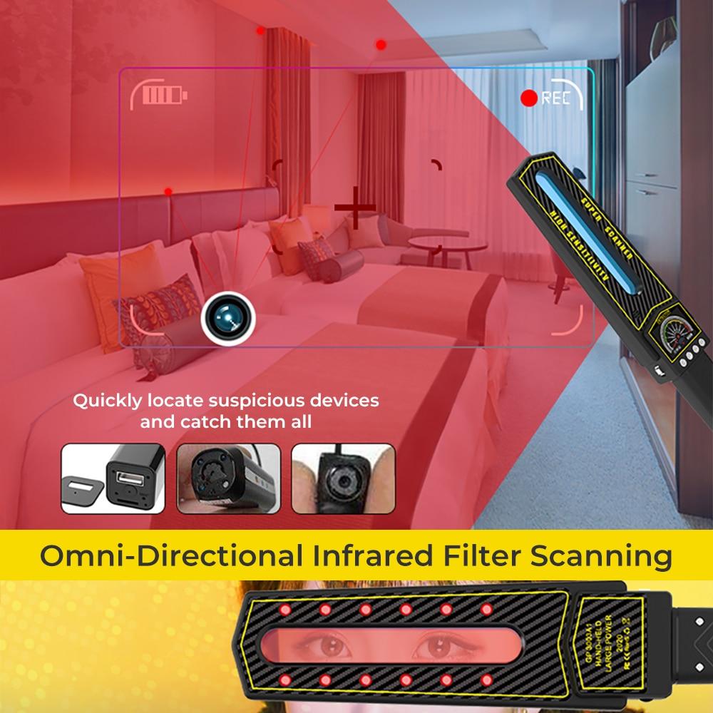 Anti-candid camera handheld GPS smart detector 3D AI smart detection chip One key smart detection interference signal instrument enlarge
