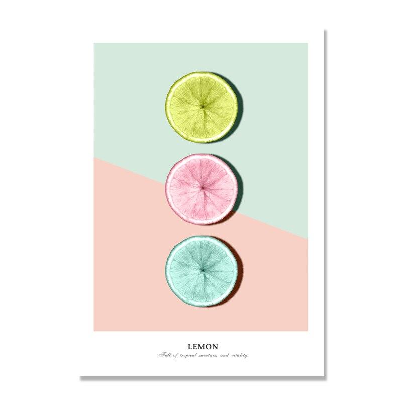 Картина на холсте с изображением лимонов, фруктов, скандинавских плакатов, плакатов и принтов, настенные картины для декора гостиной
