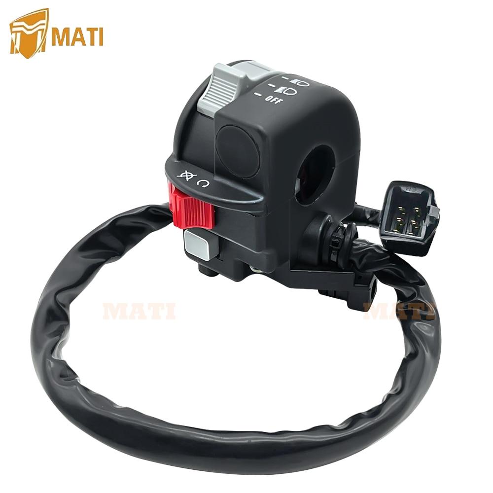 Left Handlebar Switch Start Stop Headlight for Kawasaki KFX450R KSF450 KFX KSF 450R 450 2008-2014 46091-0097 enlarge