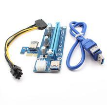 Nouveauté 006c USB 3.0 PCI-E 1X à 10X carte dextension adaptateur avec câble dalimentation 6Pin