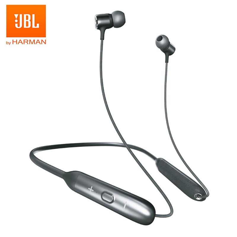 JBL en 220BT auricular Bluetooth inalámbrico banda magnética deporte Bass auriculares manos libres con micrófono magnético brotes asistente de voz