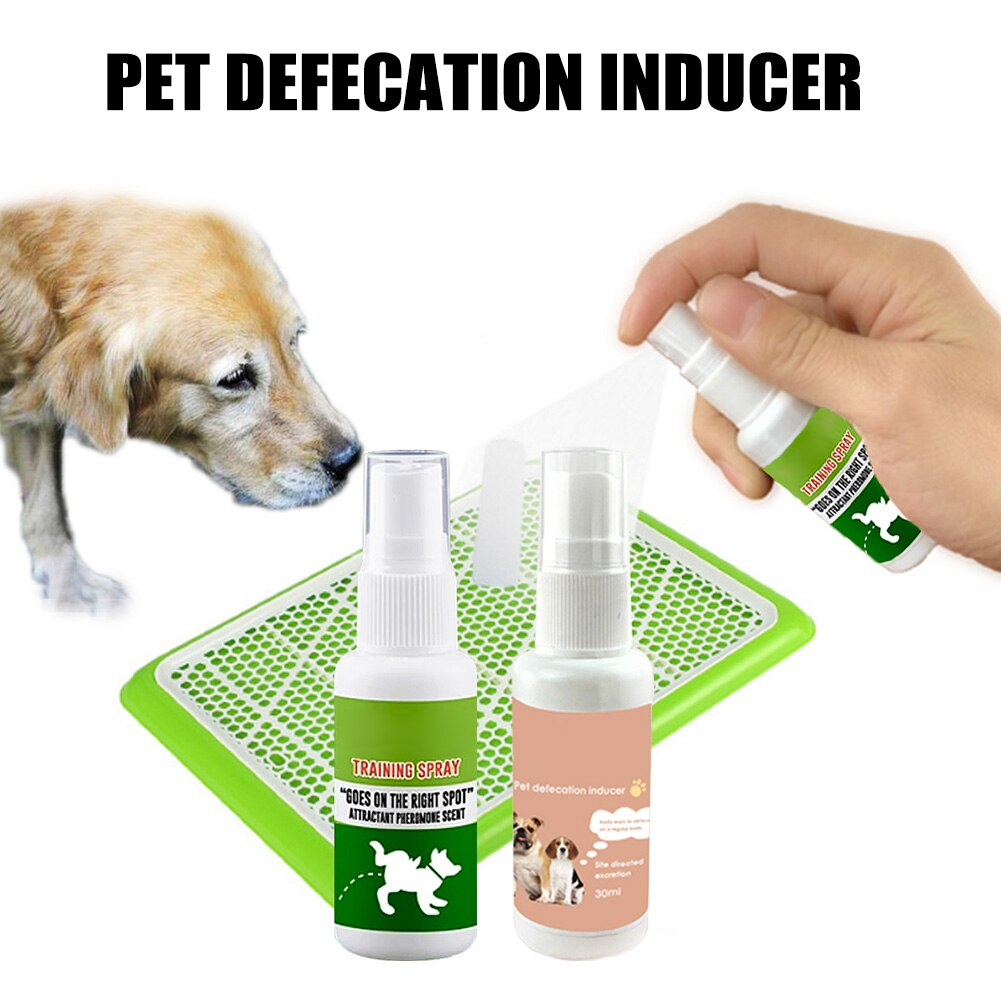 New 30ml Pet Dog Spray Inducer Dog Toilet Training Puppy Positioning Defecation Pet Potty Training Spray LXY9