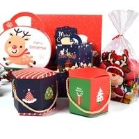 christmas decoration christmas eve gift box portable box christmas candy gift storage storage box home decoration