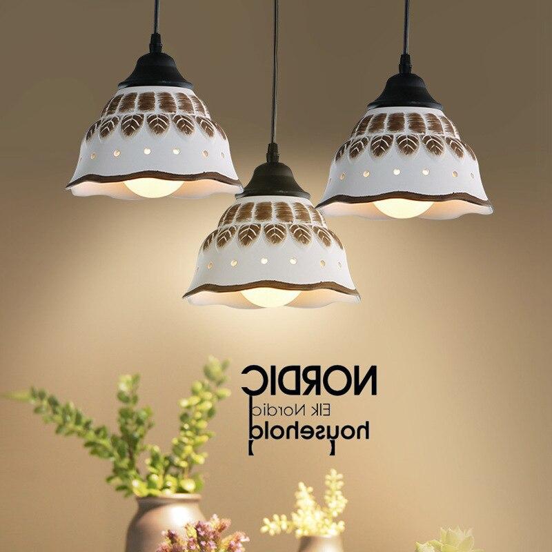 Lámpara de techo de estilo clásico para cocina candelabros led modernos, de...