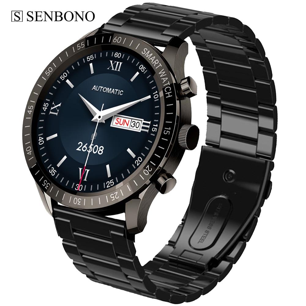 SENBONO MAX5 1.32 بوصة ساعة ذكية الرجال 2021 360*360 HD شاشة كبيرة جهاز تعقب للياقة البدنية موضة مقاوم للماء Smartwatch ل أندرويد IOS