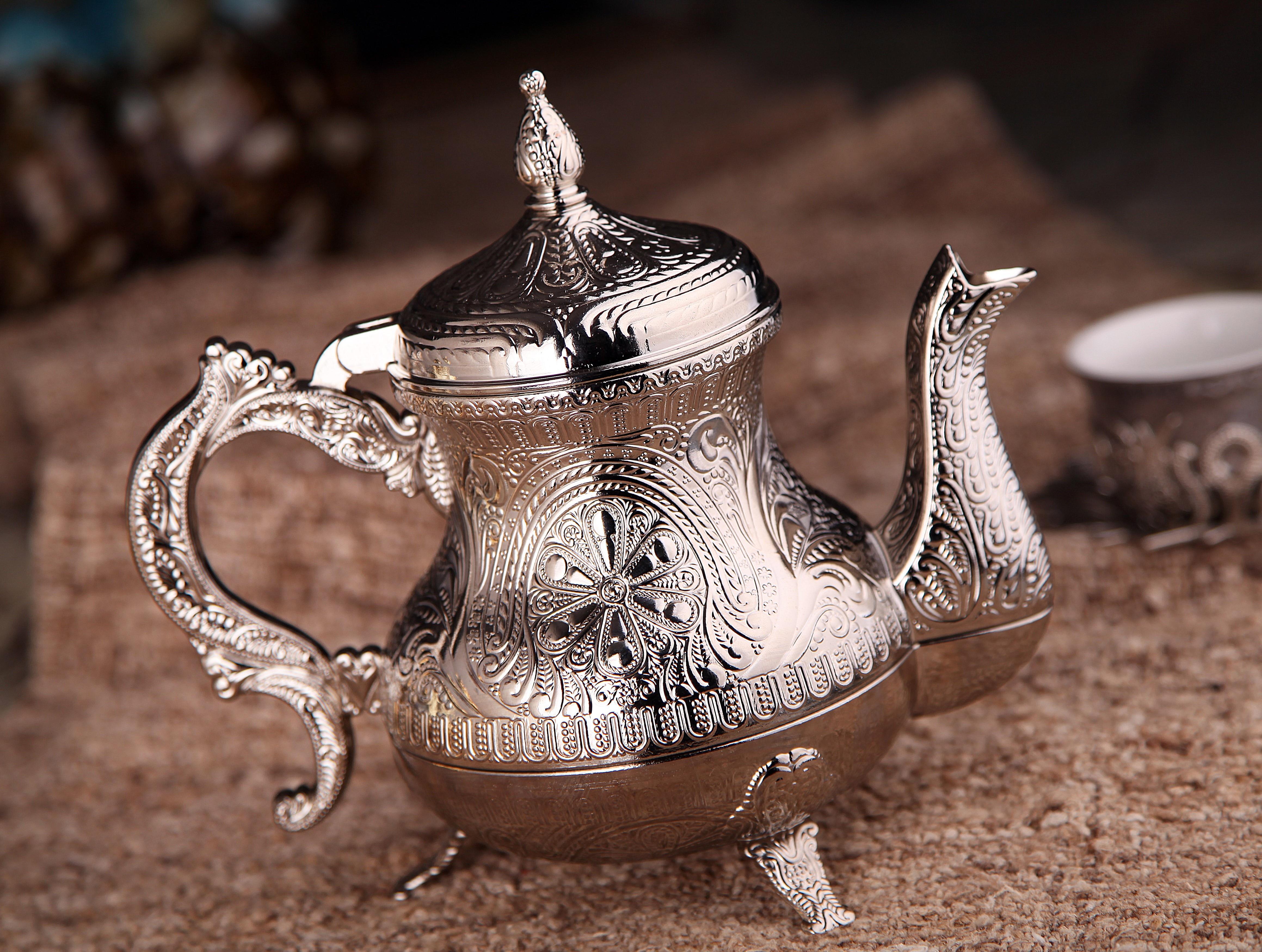 أقداح شاي أخضر إنفوسر ترمس عربي بعد الشاي طقم شاي ساموفار شاي إنجليزي تقليدي تزيين المنزل