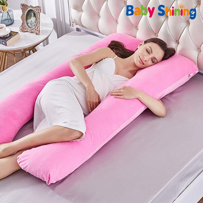 Pregnancy Pillow Maternity Sleeping Support Pillows Women Breastfeeding U Shaped Pregnant Cushion Full Body Nursing Hug Cotton