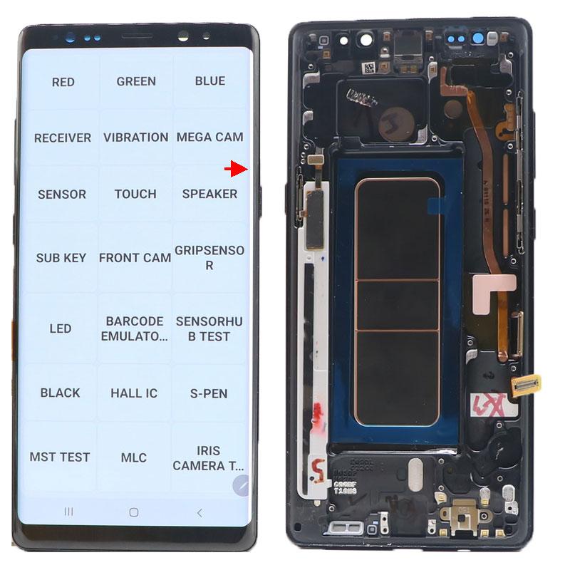 الأصلي AMOLED نوت 8 عرض لسامسونج غالاكسي نوت 8 N950 N950F SM-N950A N950U LCD عرض تعمل باللمس محول الأرقام استبدال