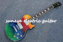 Hot البيع الملونة لامعة الانتهاء Suneye القياسية الغيتار الكهربائي النمر الحبوب النهاية لتقوم بها بنفسك طقم جيتار اليسار سلم غيتار المتاحة