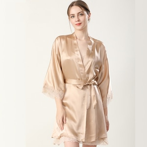 Women's Silk Pajamas Sexy Sling Two-Piece Nightgown 100% Mulberry Silk Nightdress Home Wear