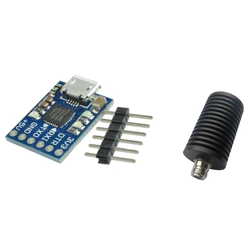 جديد مايكرو USB إلى UART TTL وحدة 6Pin محول مسلسل CP2102 STC و 50 واط دمية تحميل N أنثى المقبس تيار مستمر-3 جيجا هرتز 50 أوم