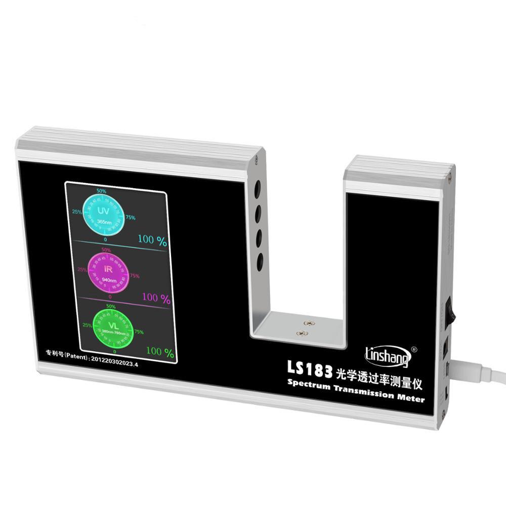 S183 الطيف انتقال متر الأشعة فوق البنفسجية IR انتقال متر اختبار فيلم زجاج نافذة تينت مع 940 IR 365 UV 380-760nm VL
