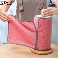 kitchen daily dish towel dish cloth kitchen rag non stick oil thickened table cleaning cloth absorbent scouring pad