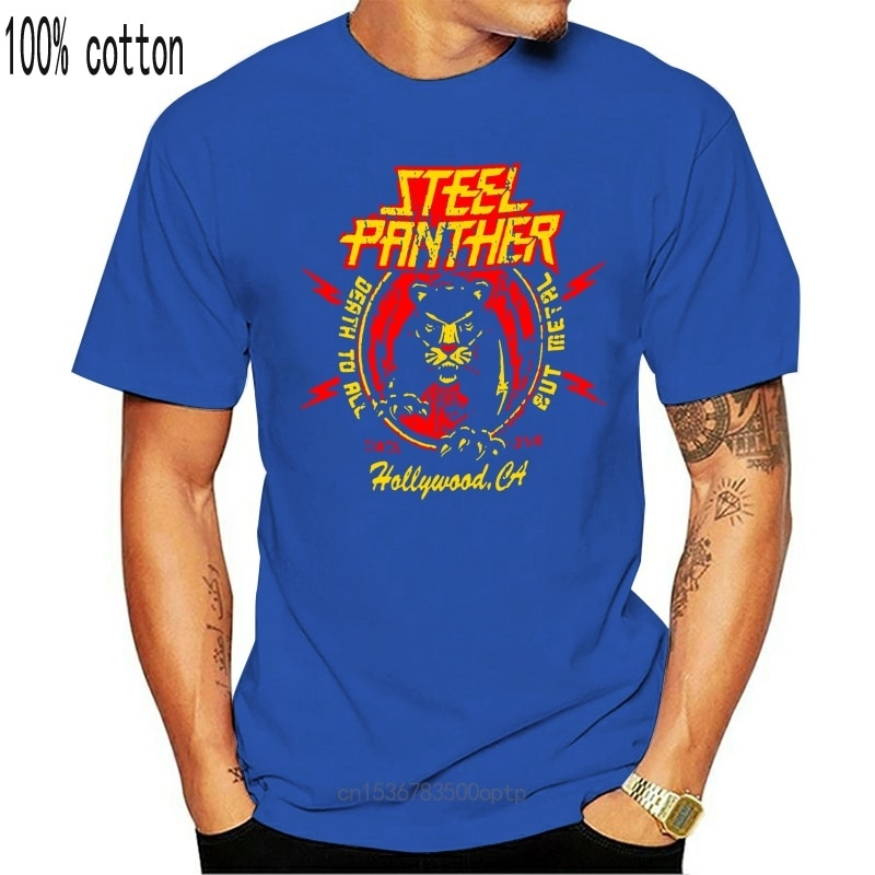 New Shirt Deals Crew Neck Fashion Short Mens Steel Panther Death To All But Metal T Shirts