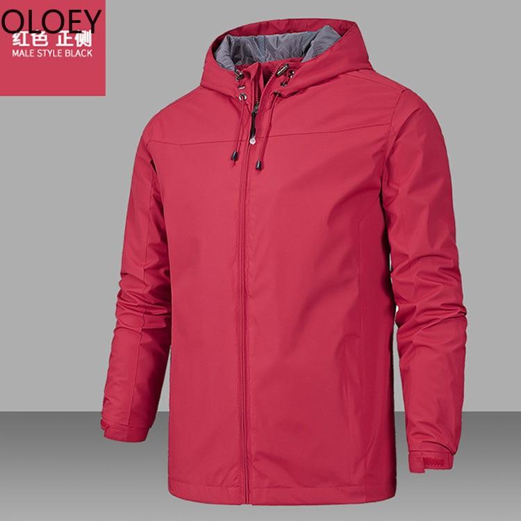 Windproof Waterproof Rain Jacket Raincoat Outdoor Mountaineering Rain Coat Jackets Men Sports Suits Adults Big Size Fashion 2021 enlarge