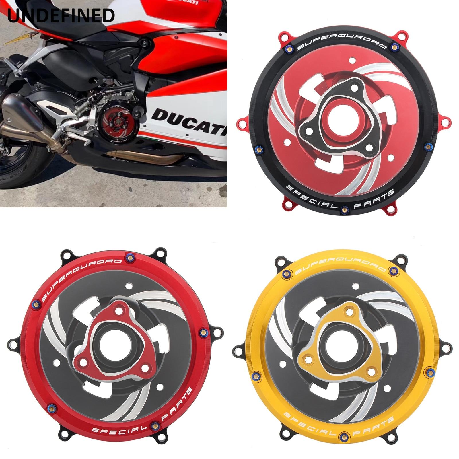 غطاء القابض معدات الحماية باستخدام الحاسب الآلي للدراجات النارية دوكاتي Panigale 1299 11199 959 Corse R S ABS 2012 2013-2019 أحمر/أسود/ذهبي واضح