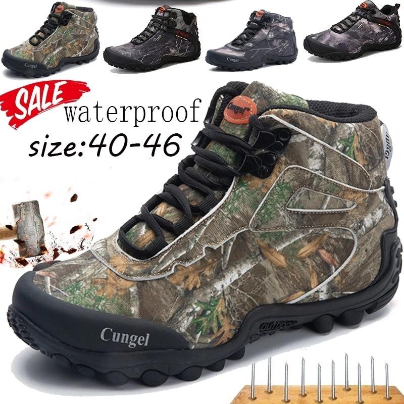 حذاء تكتيكي للرجال موضة 2021 حذاء عالي الجودة للتنزه متين مقاوم للماء ومضاد للانزلاق حذاء للتسلق والرحلات حذاء عسكري تكتيكي منخفض