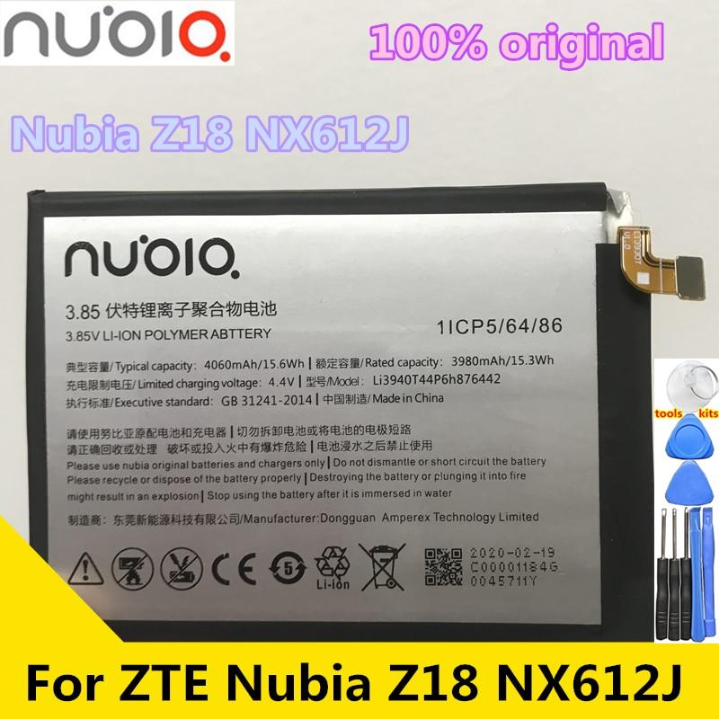 Новый оригинальный аккумулятор Nubia 4060 мАч Li3940T44P6h876442 для ZTE Nubia V18 NX612J 4060 мач li3940t44p6h876442 сменный аккумулятор для zte nubia z18 nx612j аккумуляторы для мобильных телефонов
