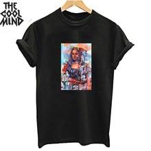 Coolmind 100% cotton cool fashion women T shirt o-neck short sleeve women tshirt summer loose women t-shirt female tee shirts