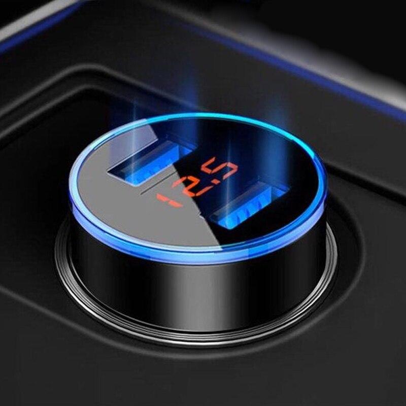 Car Charger 5V 3.1A With LED Display Universal Dual Usb for Ford kuga fiesta focus mondeo mk1 mk2 mk3 mk4 st ranger c max 2 3