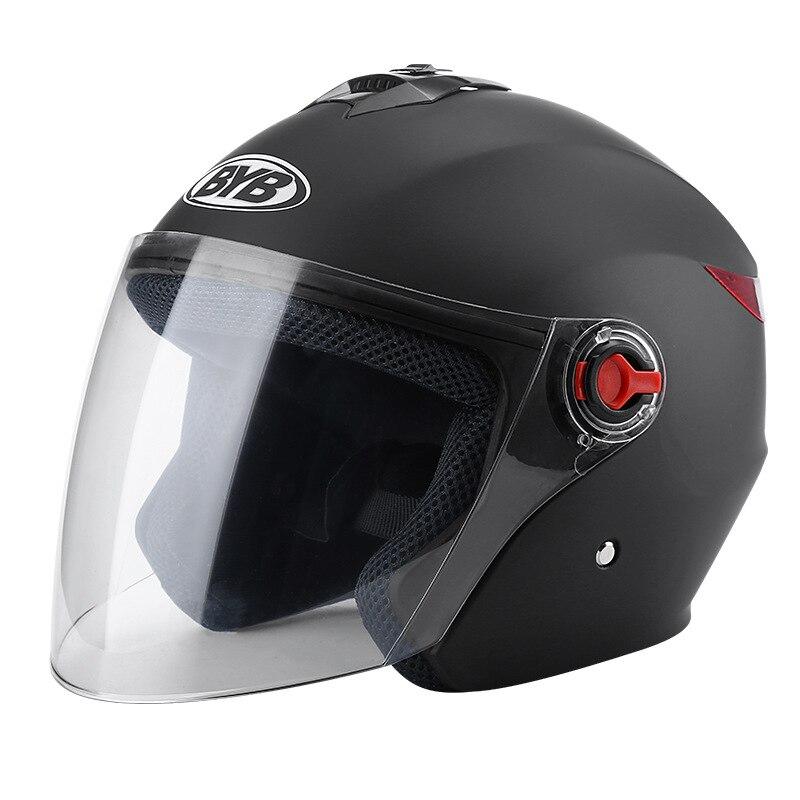 Capacete da motocicleta quatro estações unisex capacete com aquecimento do inverno forro viseira protetora rosto scooter capacete acidente do motor